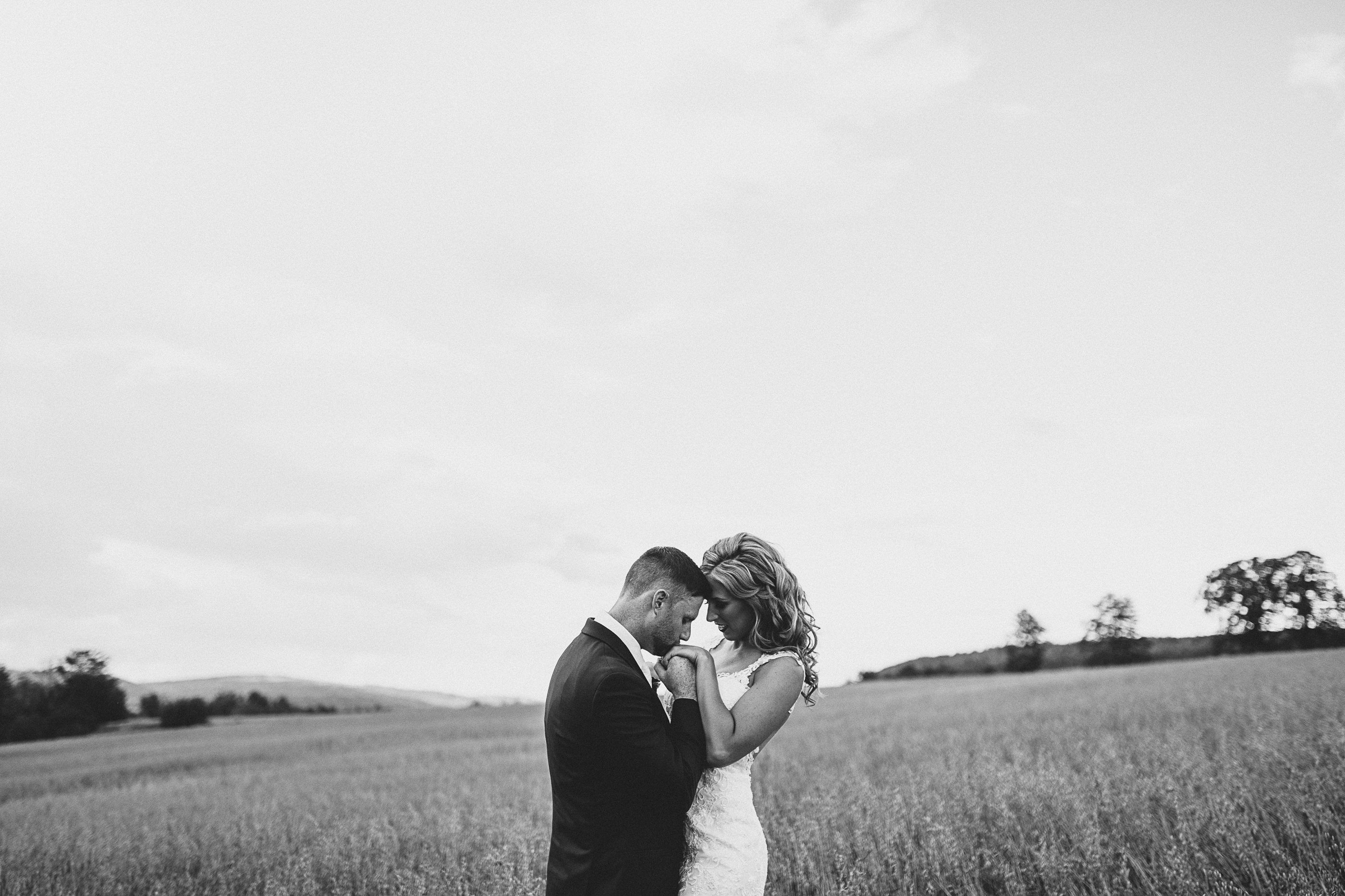 Black and white wedding photos in New Brunswick