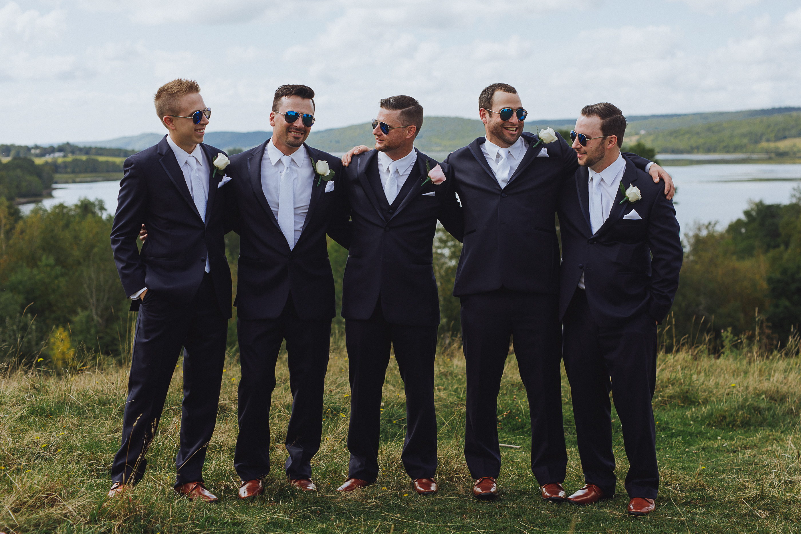 the guys - wedding morning