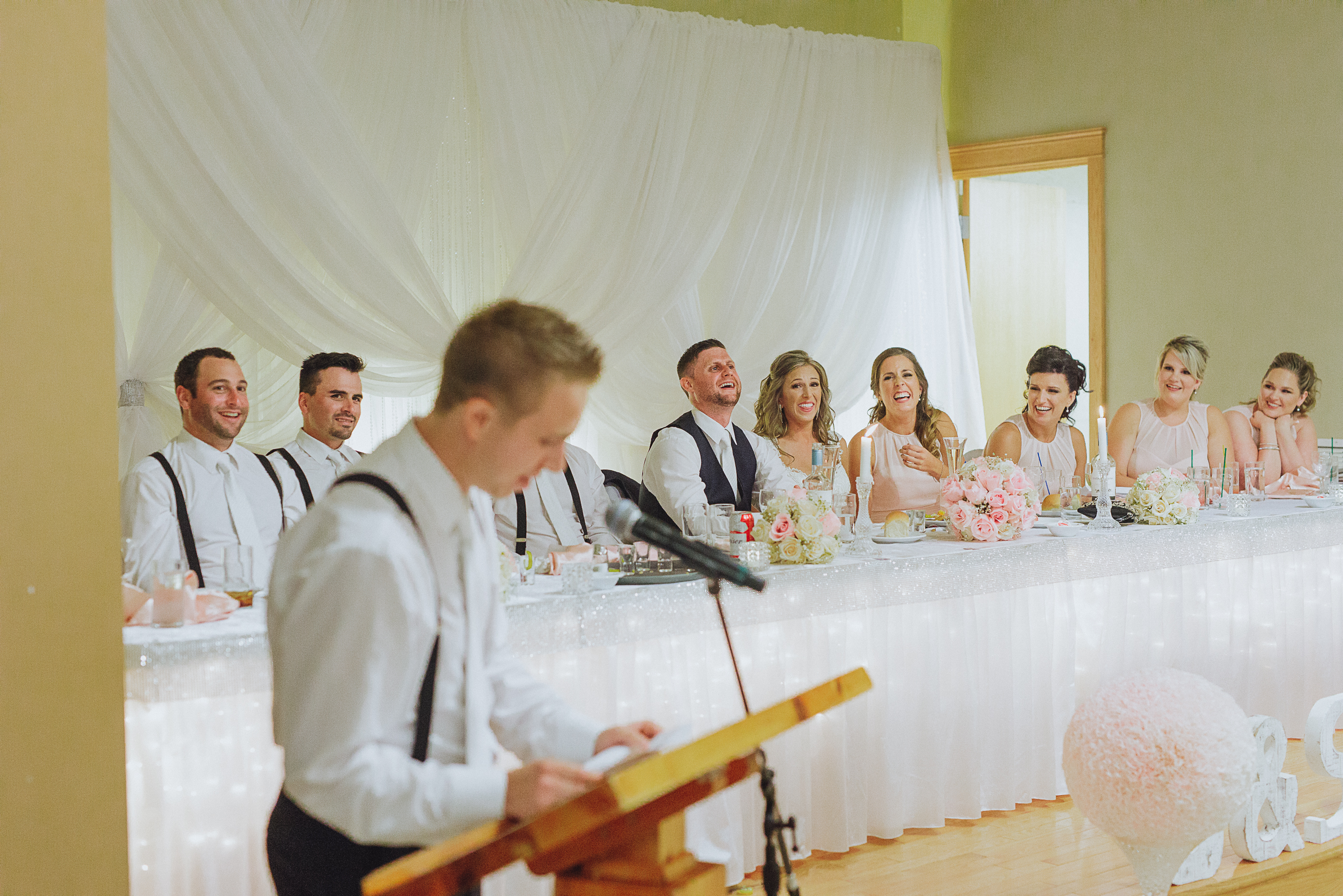 Belleisle wedding - speeches