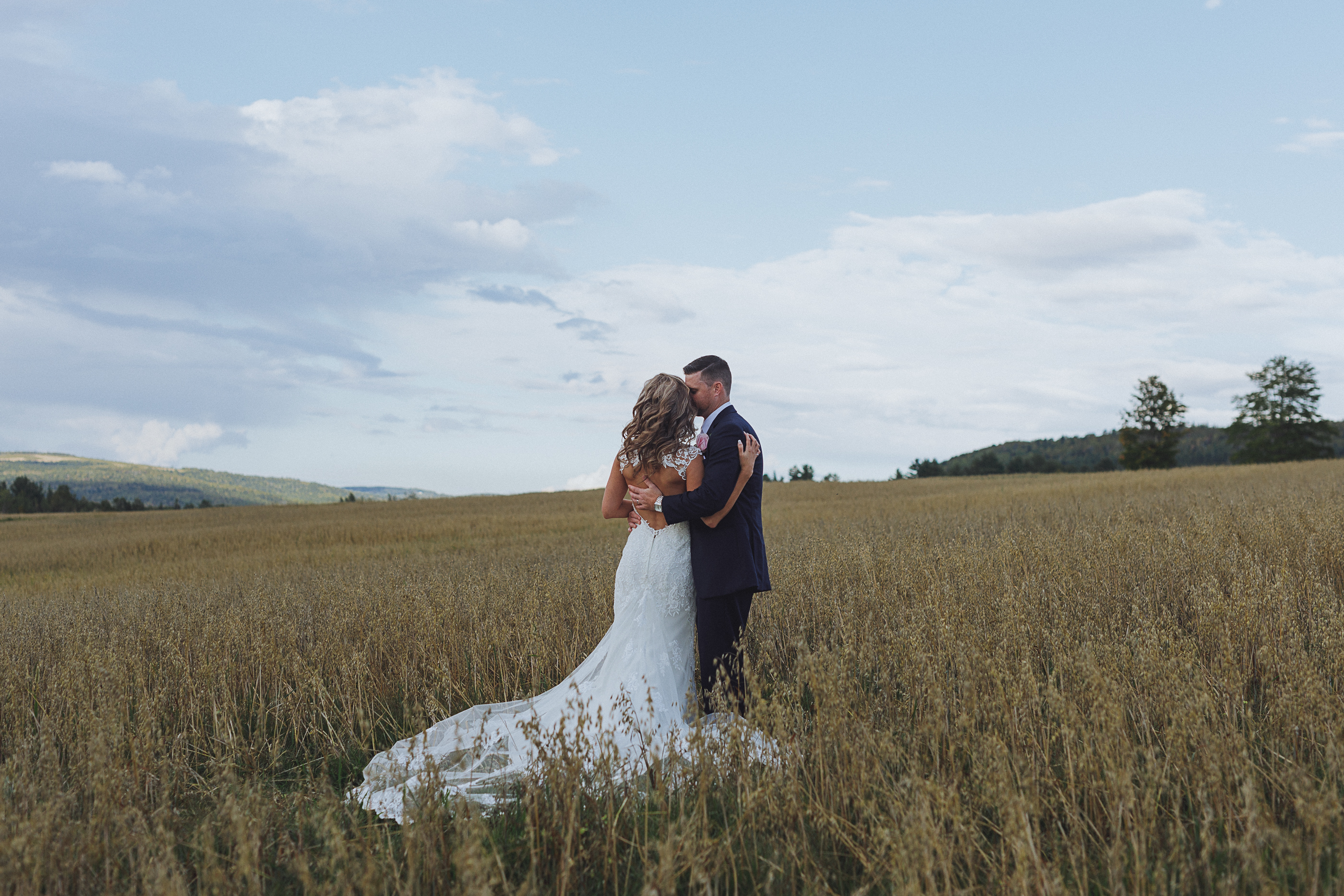 Romantic rural wedding in new brunswick