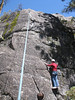 "Top roping a climb on Hetch Hetchy road in the National Park.  <br /> <br />  <a href=""http://en.wikipedia.org/wiki/Hetch_Hetchy_Valley"">http://en.wikipedia.org/wiki/Hetch_Hetchy_Valley</a>"