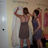 Preparing the dress