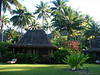 Our beach-side bure (bungalow) at Qamea Resort and Spa on the island of Qamea, 3 miles by boat off Tavenui. (Jan's photo)