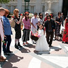 Jen Burton & Leslie Mah Wedding, May 23, 2014. In front of Oakland City Hall.