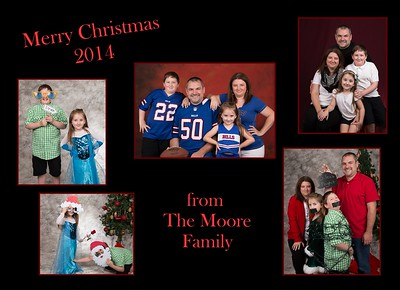 Moore Christmas cards 2014