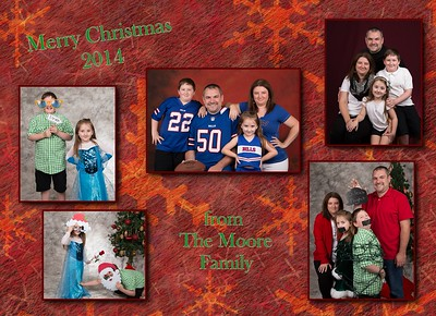 Moore Christmas cards 2014-2