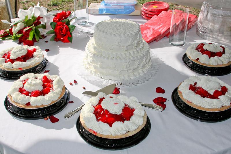 Strawberry Wedding Pie