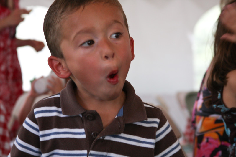 Boy with funny look