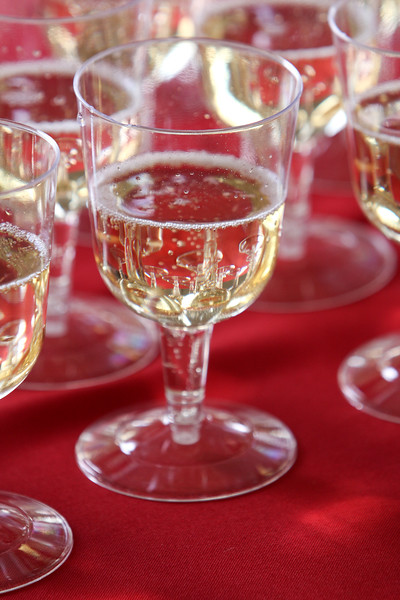 Bubbly champagne for the guests