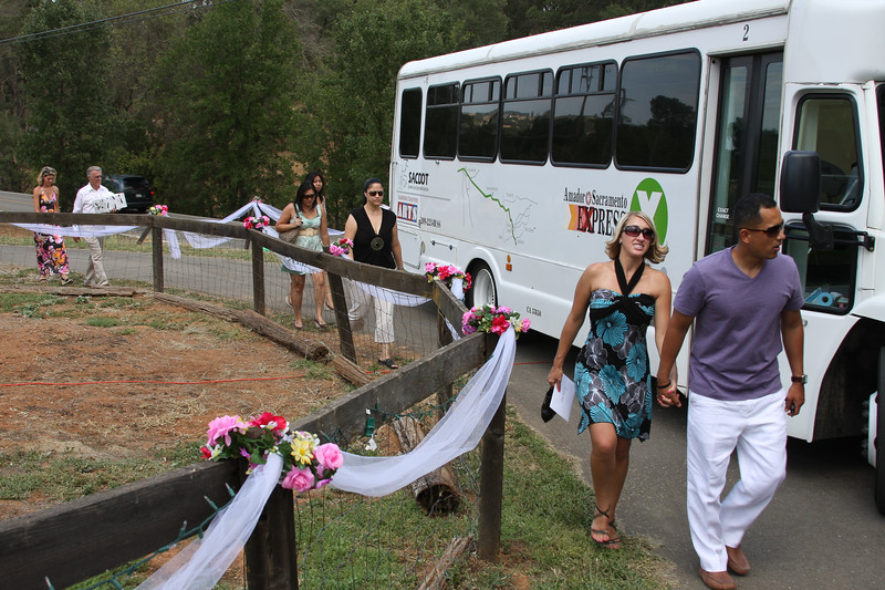The shuttle to the reception
