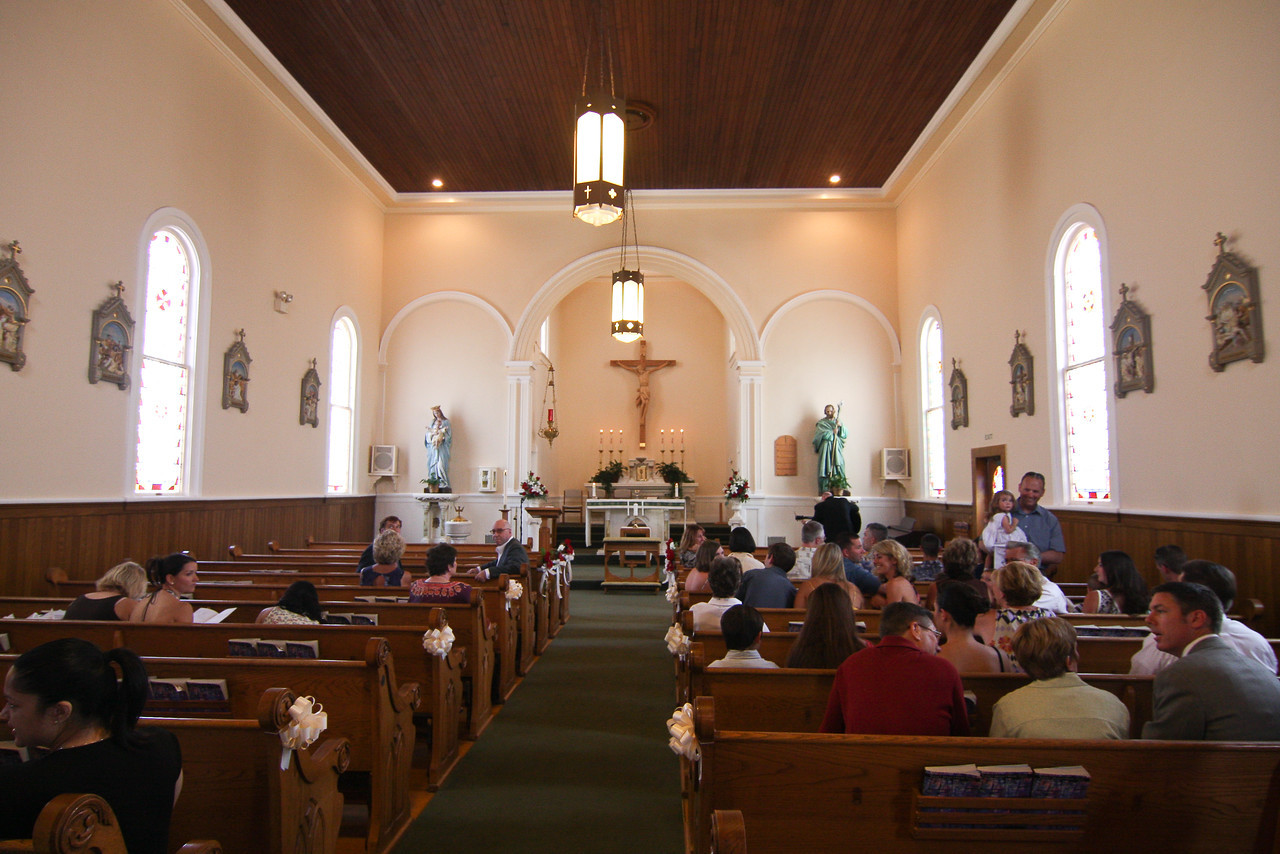 Inside the little chapel