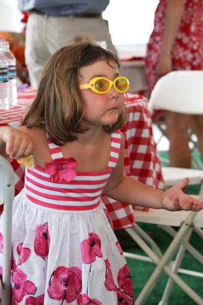 Girl with stylish glasses
