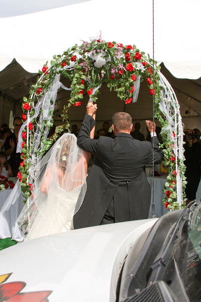 Triumphal entry into the reception