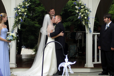 The kiss at the wedding of Jen and Jon Addair - Radford, Va ... July 3, 2005 ... Photo by Rob Page III