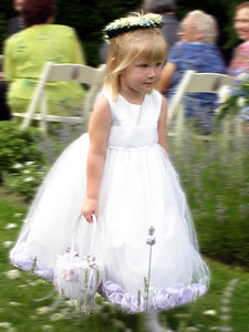 The flower girl, Laura, at the wedding of Jen and Jon Addair - Radford, Va ... July 3, 2005 ... Photo by Rob Page III