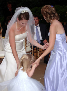 Jen and Emily dancing with Laura at the wedding of Jen and Jon Addair - Radford, Va ... July 3, 2005 ... Photo by Rob Page III