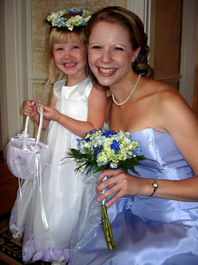 Laura and Emily at the wedding of Jen and Jon Addair - Radford, Va ... July 3, 2005 ... Photo by Rob Page III