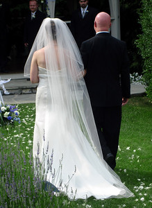 Bob Conger walking his daughter down the aisle - Radford, VA ... July 3, 2005 ... Photo by Rob Page III