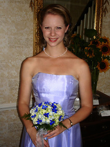 The maid of honor, Emily Conger, at the wedding of Jen and Jon Addair - Radford, Va ... July 3, 2005 ... Photo by Rob Page III