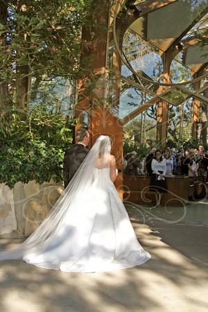 Jennifer and Mark at Wayfarer's Chapel in Palos Verdes