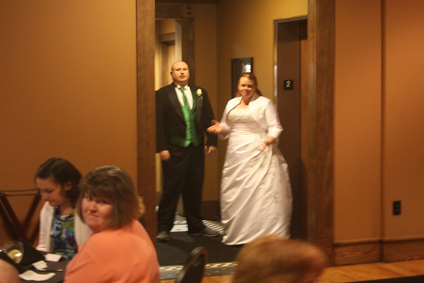 Jeremy and Casey coming into the reception.