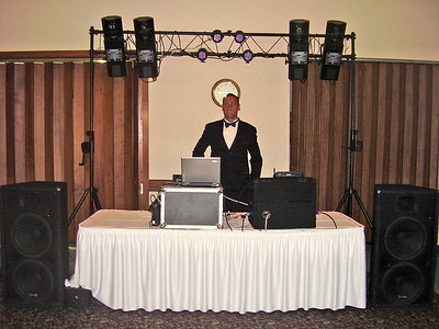 DJ Jim getting ready for the big event