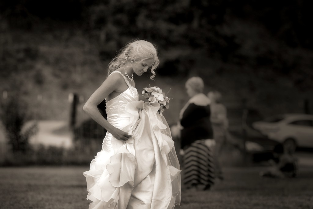 Bride in motion
