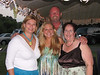 Blended families abounded at this celebration ... my step-sister Jodi Steen with her fiance William Worthy, Meryl and me.