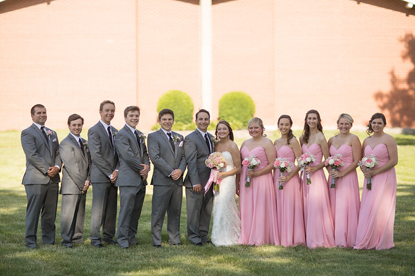 Bridal Party Post Ceremony Outdoors