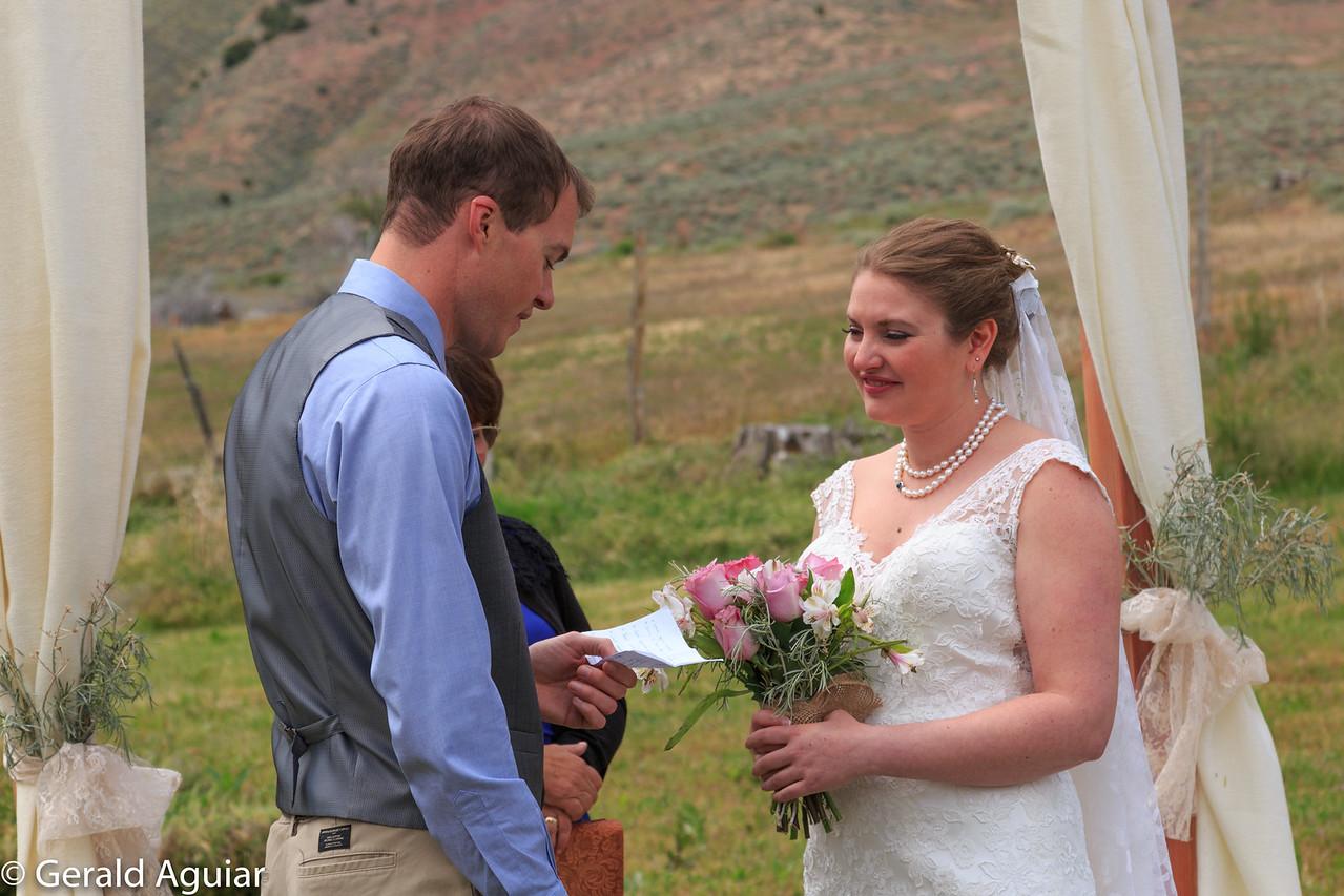 Jordan Reading His Vows