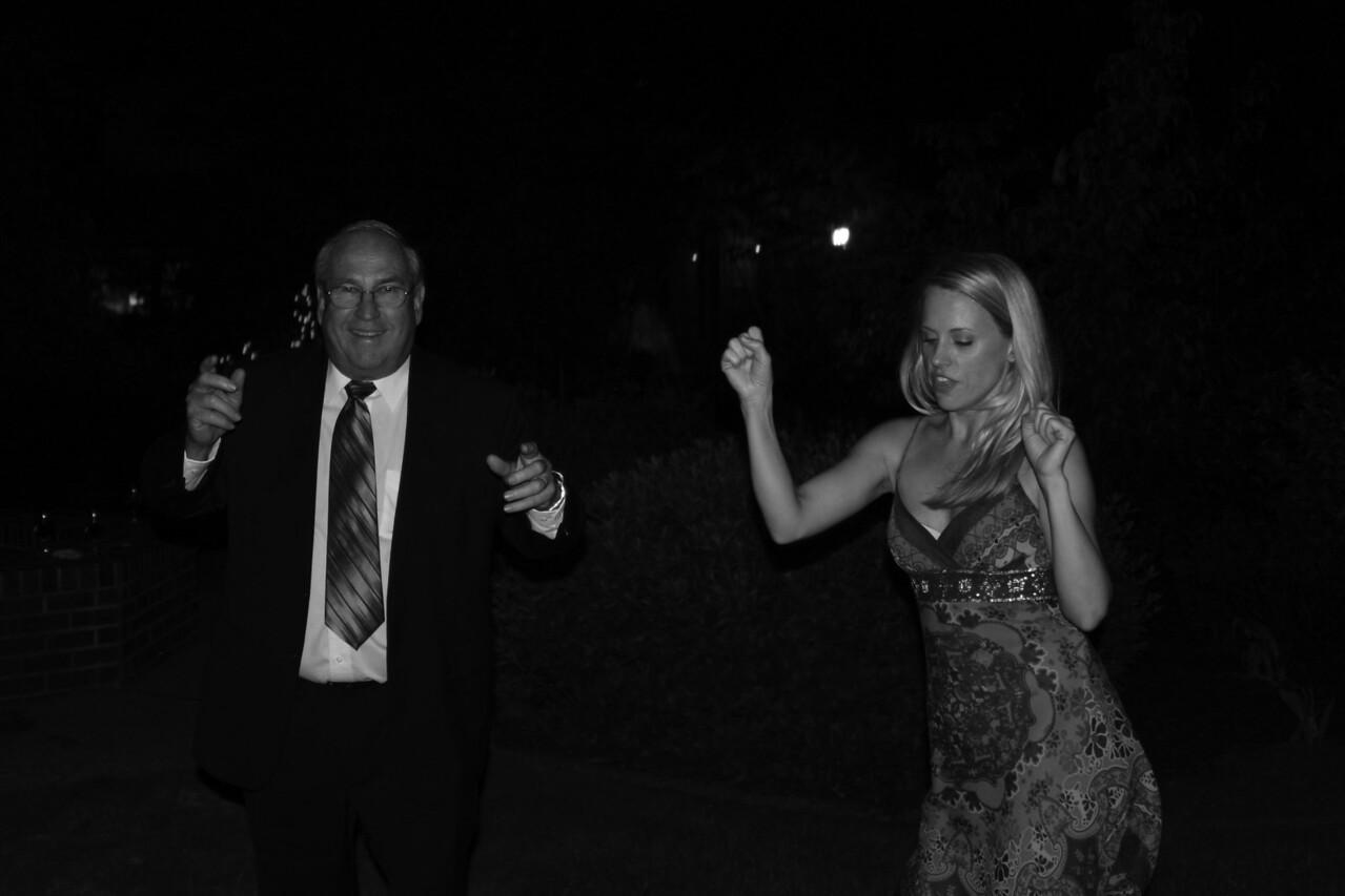 Jen & Dad bw