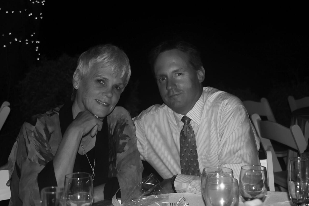 Brian & Mom bw