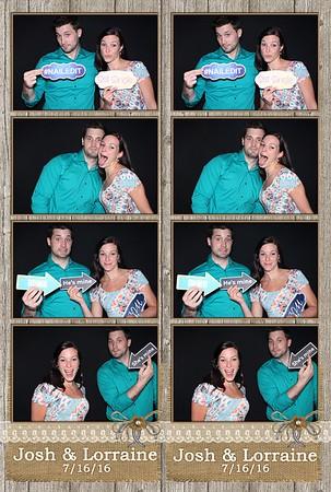 Josh & Lorraine 7/16/2016