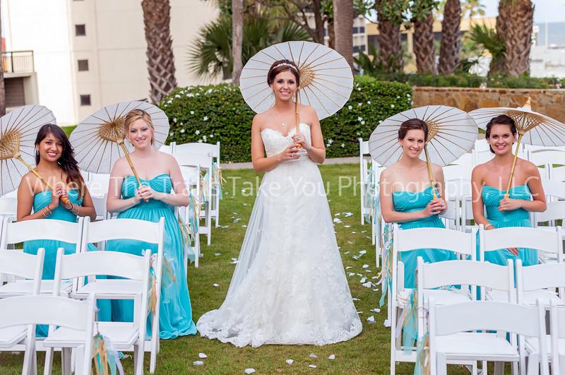 Bride Bridesmaids and Parasols