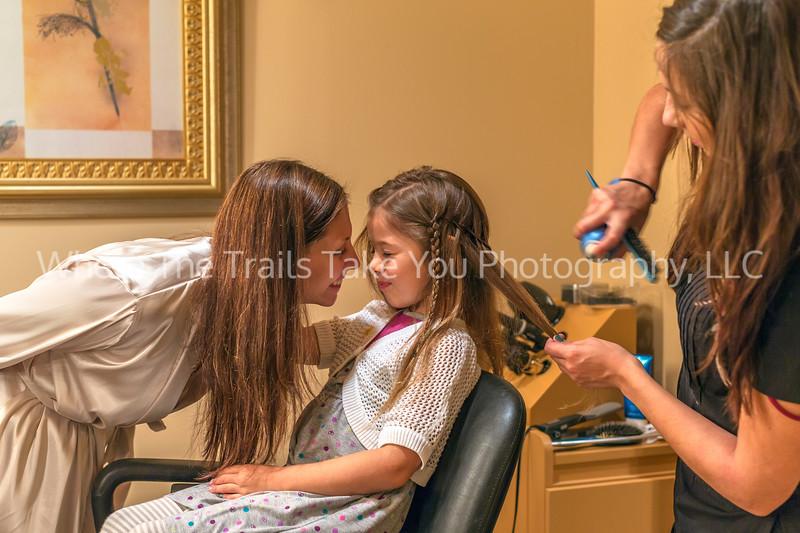 Maegan and Bella at Hairdresser