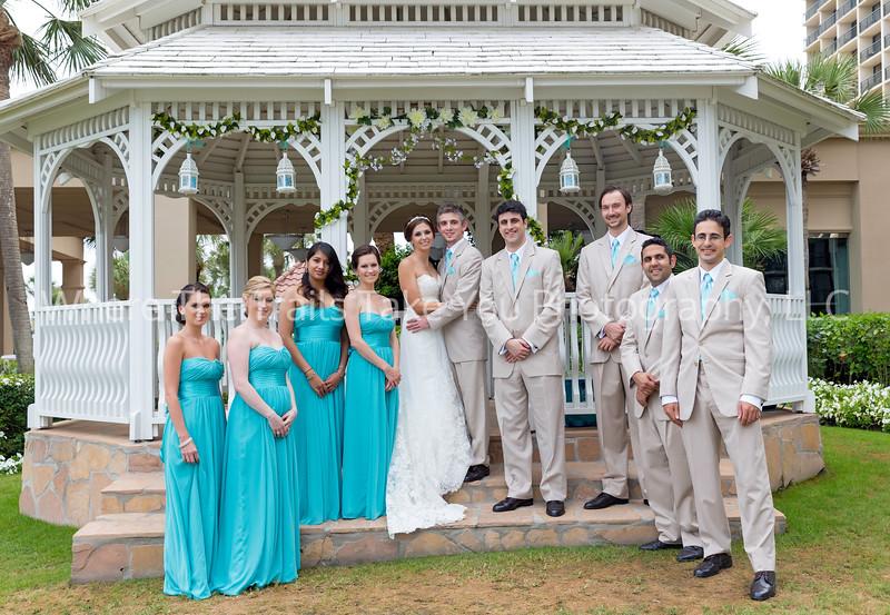 Bridal Party At The Gazebo