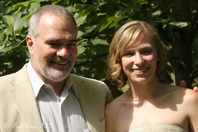 Julie and her father on her wedding day - Chagrin Falls, OH ... June 27, 2009 ... Photo by Rob Page III