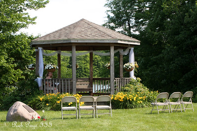 The gazebo before the wedding - Chagrin Falls, OH ... June 27, 2009 ... Photo by Bob Page Jr.