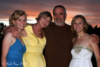 Julie, Abby, and their parents on Julie's wedding day - Chagrin Falls, OH ... June 27, 2009 ... Photo by Bob Page, Jr.