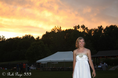 Julie enjoying the wedding reception at sunset - Chagrin Falls, OH ... June 27, 2009 ... Photo by Rob Page III