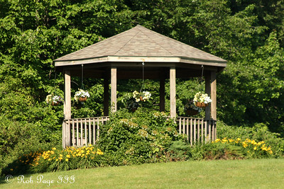 The gazebo the morning of Julie and Paul's wedding - Chagrin Falls, OH ... June 27, 2009 ... Photo by Rob Page III