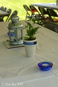 Table decorations - Chagrin Falls, OH ... June 27, 2009 ... Photo by Emily Page