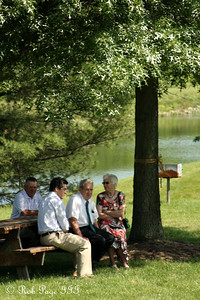 Garry Warriner, Nick Warriner, Grandpa John Cowan, Grandma June Cowan - Chagrin Falls, OH ... June 27, 2009 ... Photo by Emily Page
