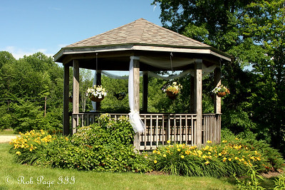 The gazebo all decorated for Julie and Paul's wedding - Chagrin Falls, OH ... June 27, 2009 ... Photo by Rob Page III
