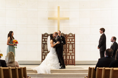 Julie and Daniel's Wedding at A&M Church of Christ in College Station, TX July 12, 2013  Order prints: http://bit.ly/JulieDaniel  www.thomasandpenelope.com