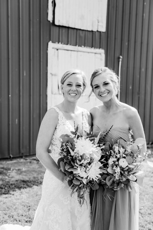 00186-©ADHPhotography2019--JustinMattieBell--Wedding--September28bw