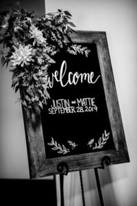 00021-©ADHPhotography2019--JustinMattieBell--Wedding--September28bw