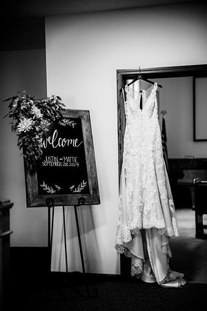 00011-©ADHPhotography2019--JustinMattieBell--Wedding--September28bw