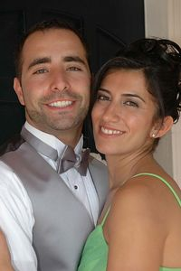 This is Karineh and Haig's first official photo together.  Although, not quite as Mr & Mrs yet.