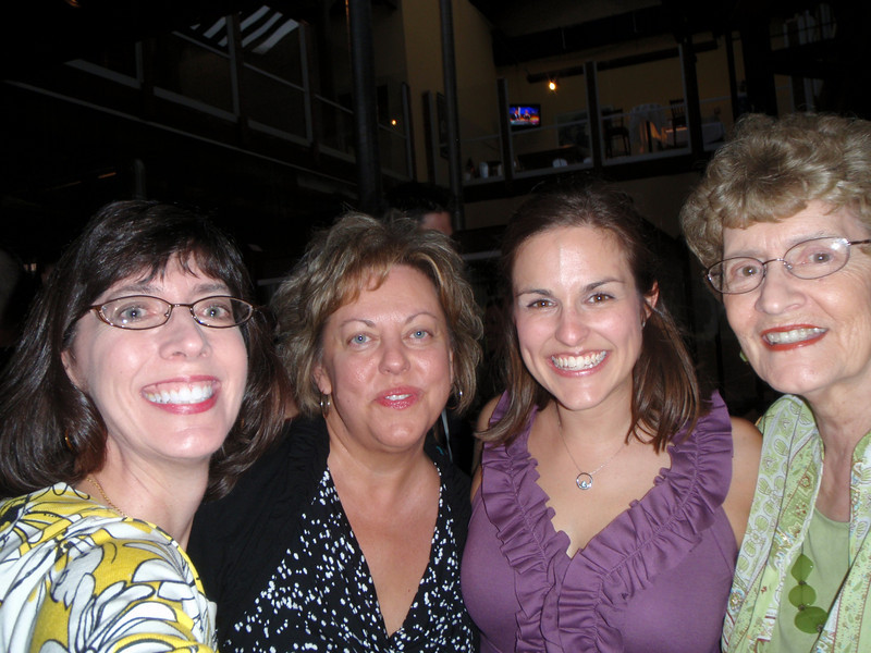 Jenny, Susan, Katie, and Mom (self-portrait)